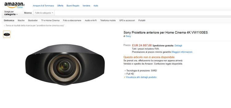 proiettore-sony-ultra-hd-4k-25000-amazon
